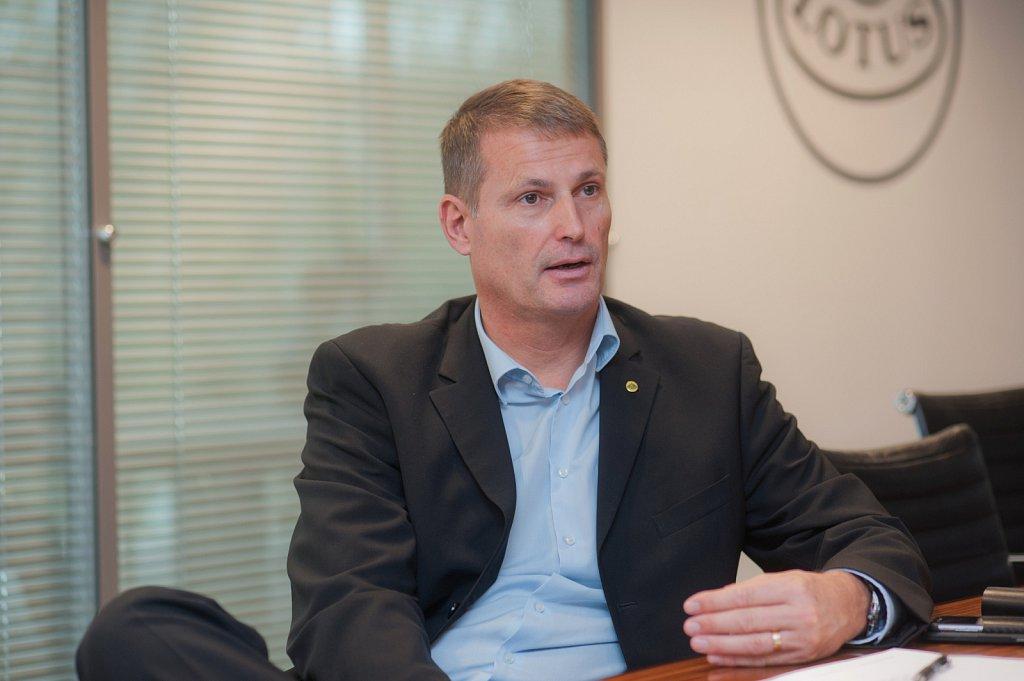 Phil Popham, CEO of Lotus Cars.