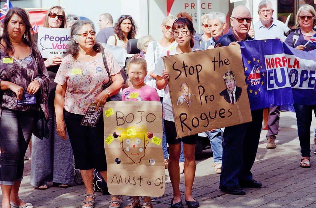 Prorogation protest King's Lynn