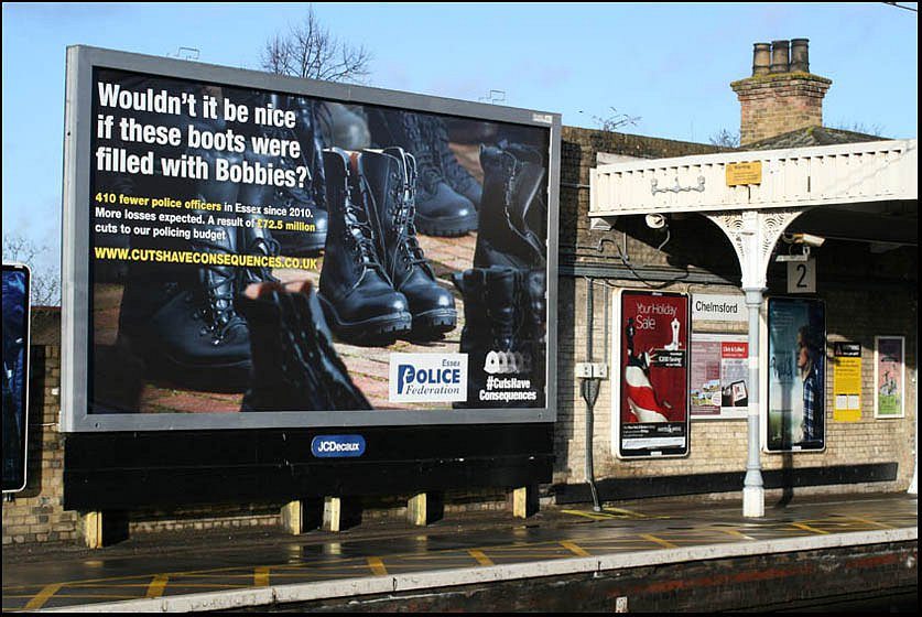 Billboard Advert for the Police Federation. IMage by Royston Martis