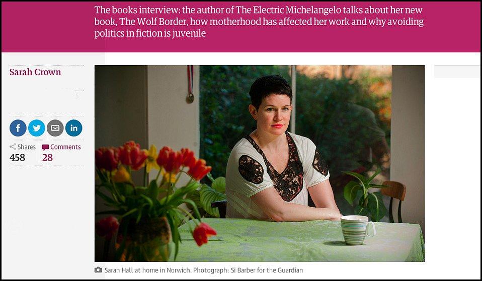 Sarah Hall. For The Guardian.